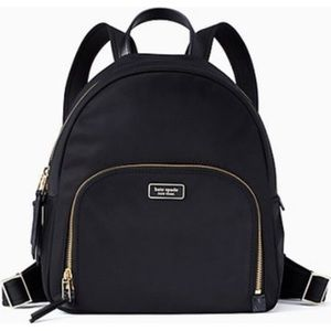NWT Kate Spade Dawn Black Medium Nylon Backpack